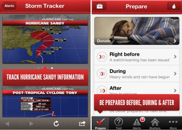 redcross hurricane app