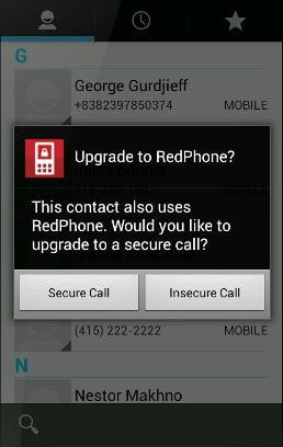 encryption just need use redphone