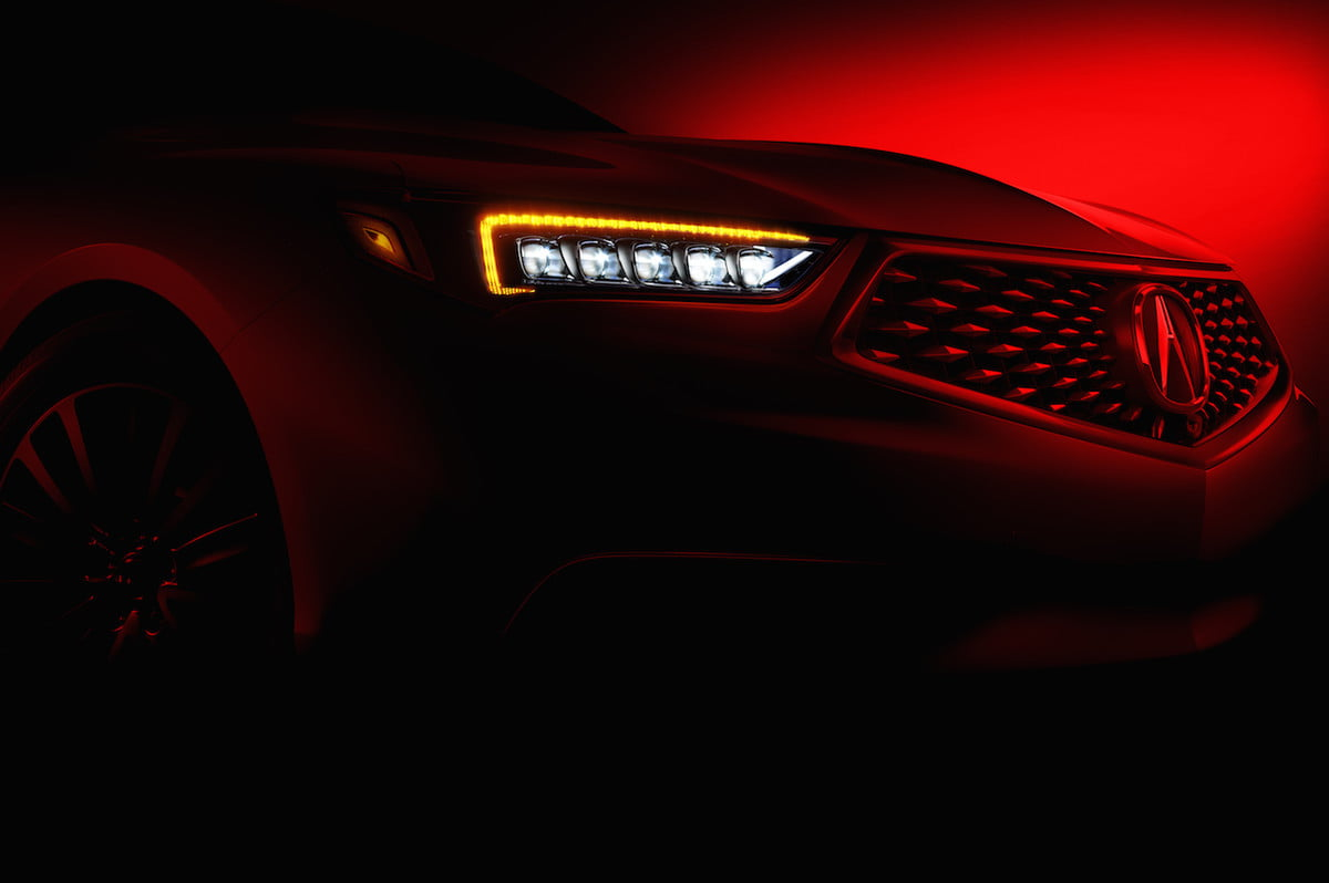 acura tlx sedan teaser news pictures
