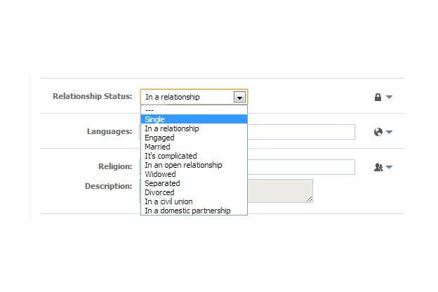 how to change relationship status on facebook on iphone