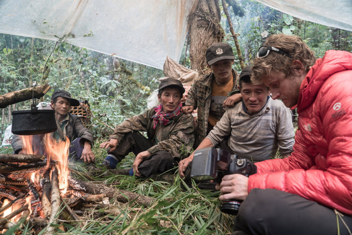 """""""After 100 miles in the jungle our porters built a makeshift camp of fallen bamboo stalks. Photographer Cory Richard shows off some photos from the day on the treacherous trails near the Burma-Tibet-China border.""""  Read more: http://www.digitaltrends.com/photography/scaling-asias-anti-everest-mountain/#ixzz4Uf7Tgo5n  Follow us: @digitaltrends on Twitter   DigitalTrends on Facebook"""