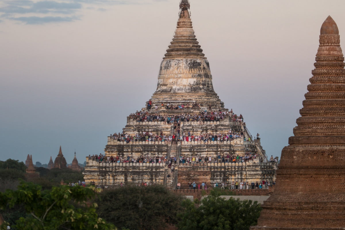 """""""After the expedition, Taylor Rees and I went to Bagan to experience a different side of Burma's culture. Bagan is the tourist capital of the country, with its iconic temples and hot air balloon rides. We would go to the lesser-known temples to view the tourists themselves – a reflection of Burma's recently opened doors. Also a stark contrast to the remote jungles and villages we had just come from.""""  Read more: http://www.digitaltrends.com/photography/scaling-asias-anti-everest-mountain/#ixzz4Uf7L4N2k  Follow us: @digitaltrends on Twitter   DigitalTrends on Facebook"""