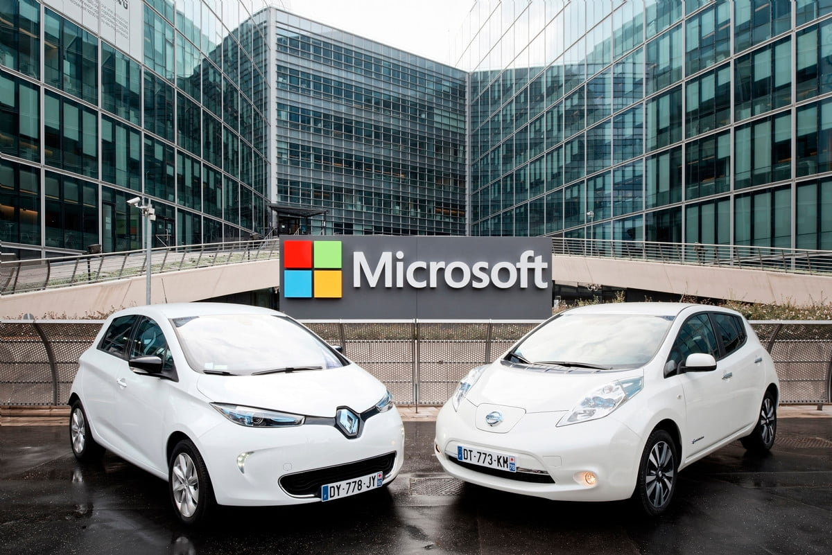 microsoft azure renault nissan alliance connected cars and partnership