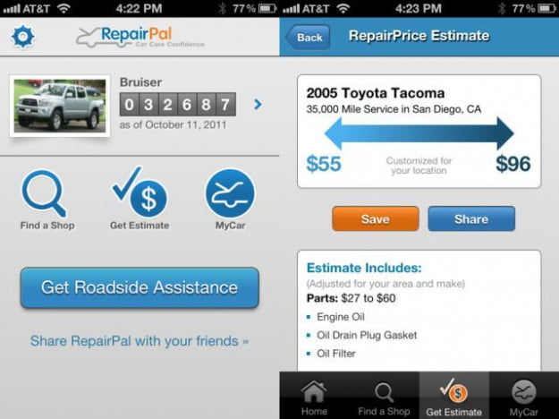 repairpal car repair iphone app