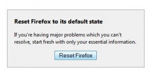 Firefox Reset button