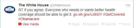 The white house retweet