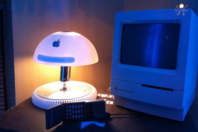 A lamp made from an old iMac