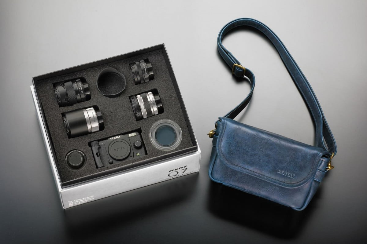 ricoh make thousand limited edition pentax premium kits includes  lenses q kit