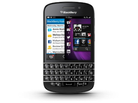 RIM BlackBerry Q10 (front)