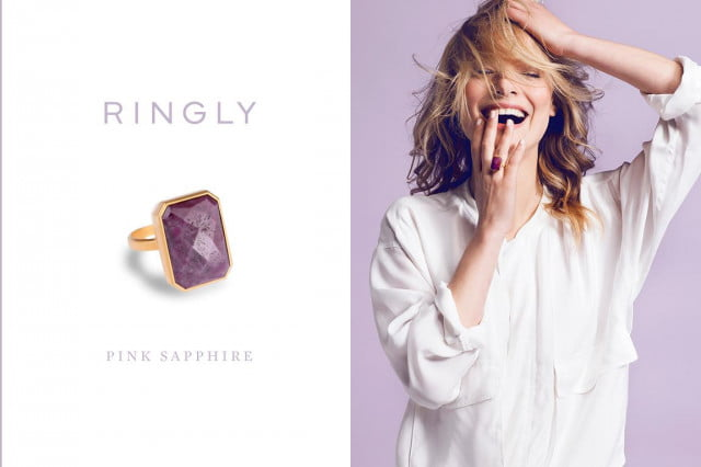 ringly brings tech buzz connected jewelry pink sapphire