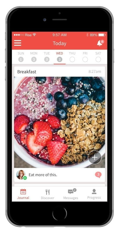 Rise, One Medical's nutrition coaching app, lets people get personalized nutrition advice on the go. (PRNewsFoto/One Medical Group)