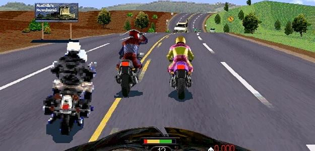 road rash screenshot sega