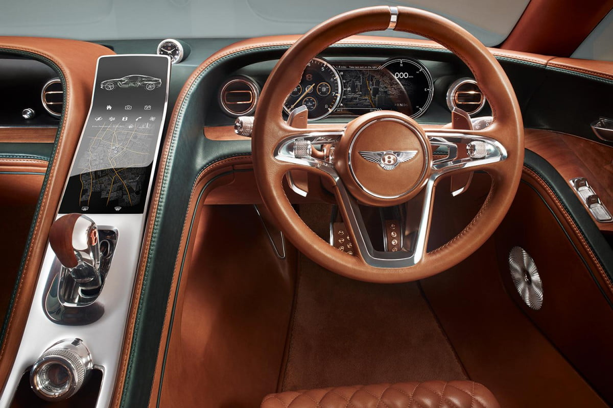 audi bentley say in car infotainment screens will disappear exp  speed concept
