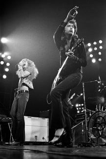 Robert Plant and Jimmy Page Seattle 1972 © Robert M. Knight
