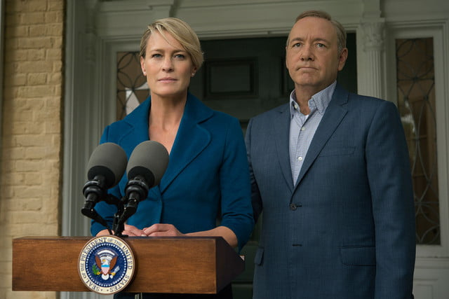 robin wright claire underwood netflix house of cards and kevin spacey