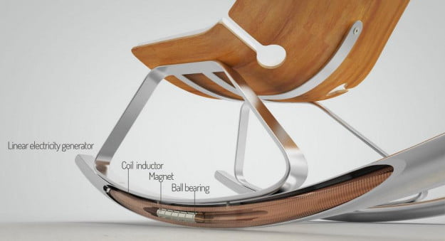 rocking chair produce electricity