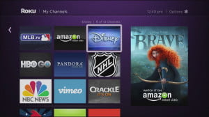 Roku 3 interface