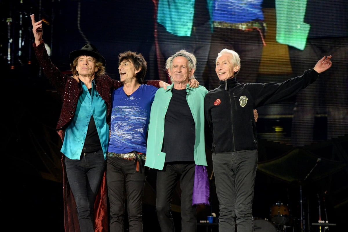 rolling stones under  armed guard musical group