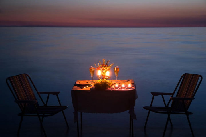 Step Three: Reserve a table or plan a romantic dinner at home