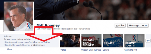 romney facebook page bleeding of friends