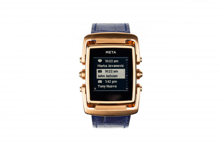 meta m  smartwatches start shipping rose gold front