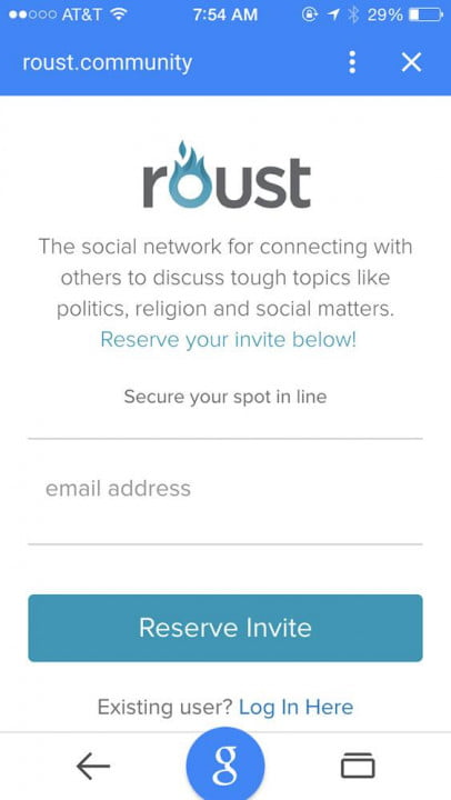 roust social network news and interview mobile screenshot