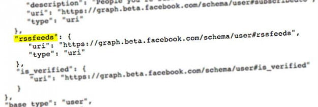 rssfeeds facebook graph search api