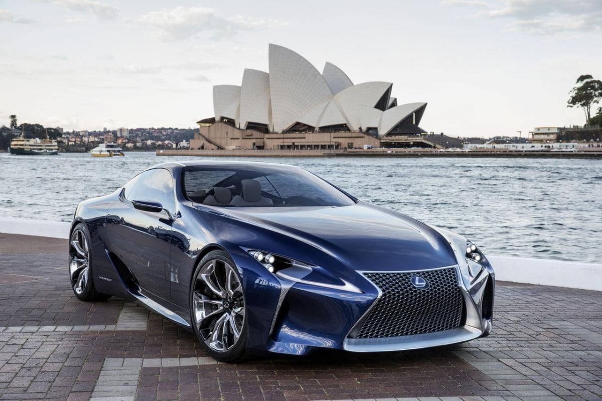 average mom car  lexus sc will based lf lc concept rsz blue