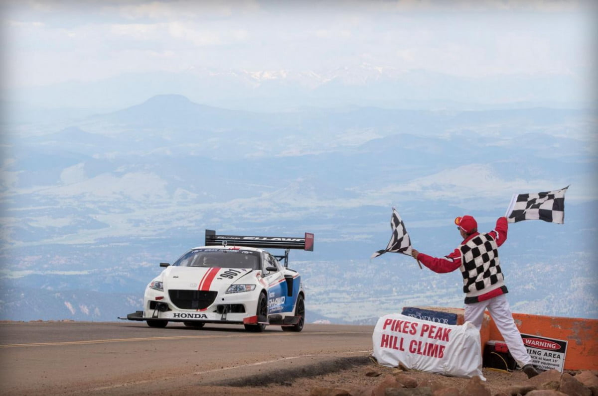 honda all electric awd cr z wins at pikes peak pictures