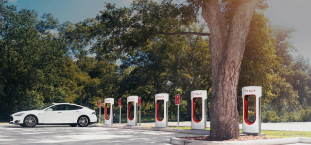 tesla installs  th supercharger station in germany news pictures