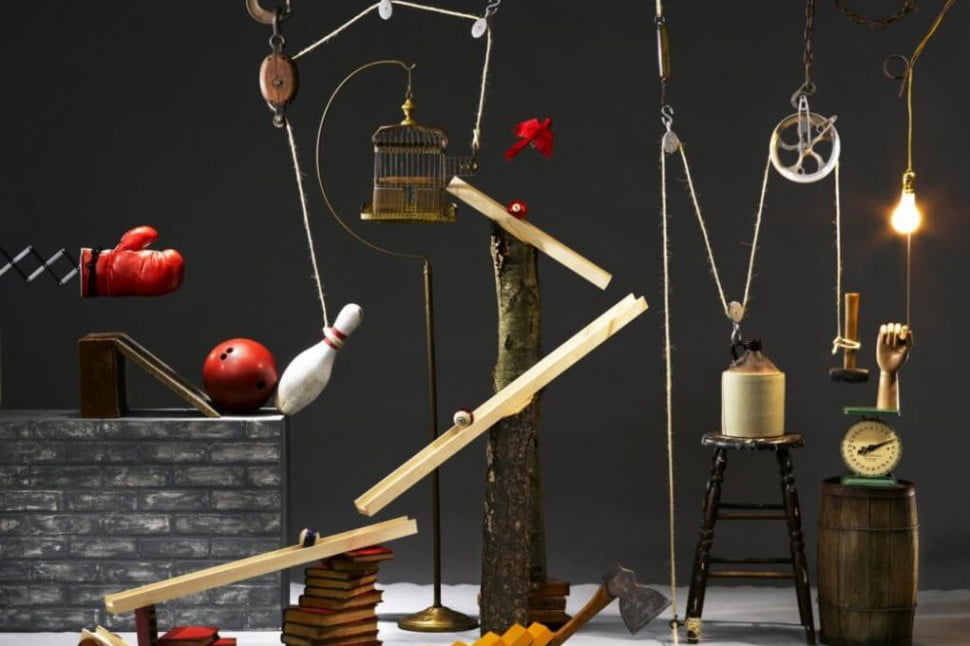 rube goldberg machine 10 steps