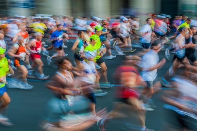 hong kong marathon launches anti selfie campaign to prevent injuries runners