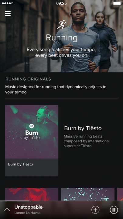 spotify adds video podcasts and running music features screenshot