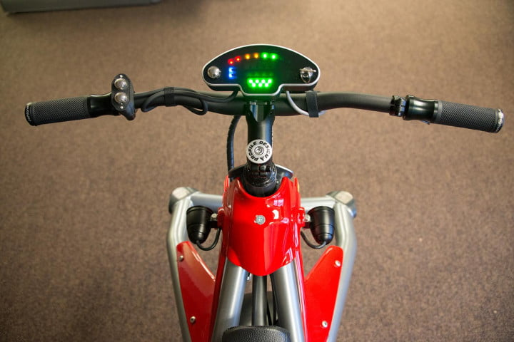 test riding the ryno self balancing one wheeled electric motorcycle motors instrument panel