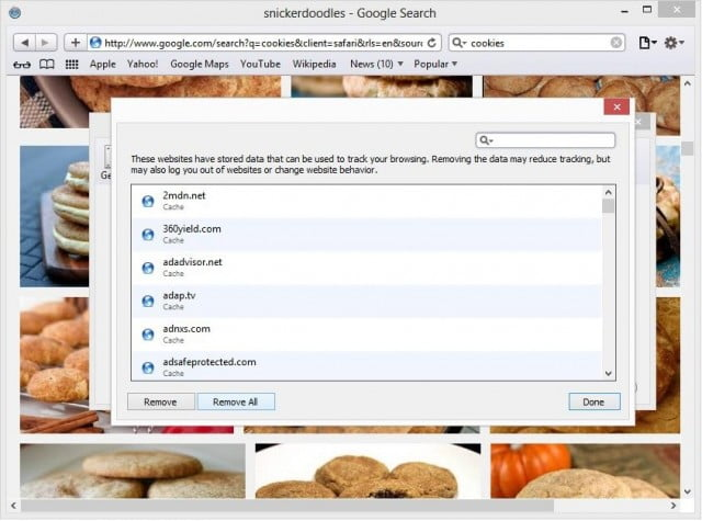 how to delete specific cookies
