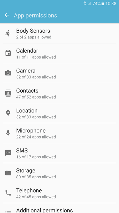 galaxy s  tips and tricks app permissions