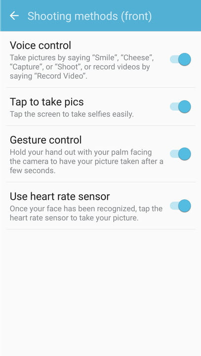 galaxy s  tips and tricks camera voice
