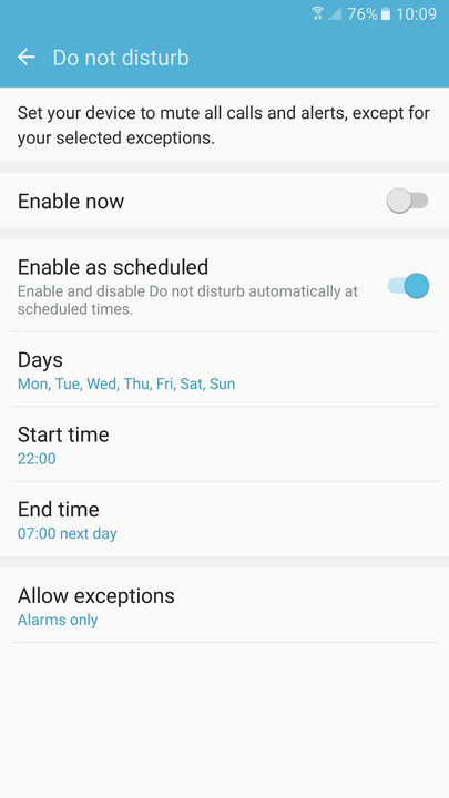 galaxy s  tips and tricks do not disturb