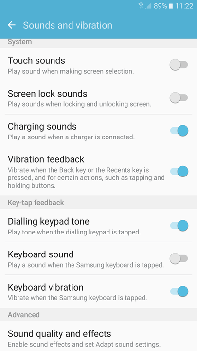 galaxy s  tips and tricks keyboard sound