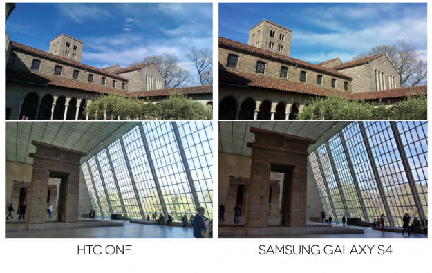 samasung galaxy s4 vs htc one camera comparison