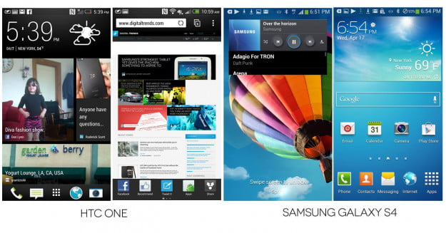 Galaxy S4 vs. HTC One Display