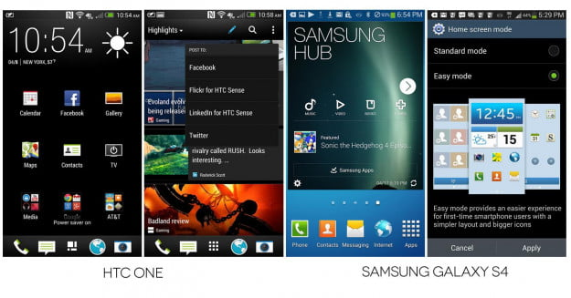 Galaxy S4 vs. HTC One Interface Comparison