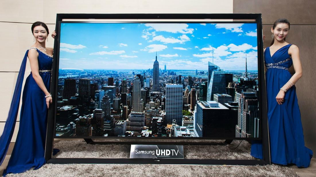 samsung busts  inch k tv available ultra hd straight