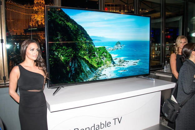 Samsung bendable 85-inch Ultra HD (UHD) LED set