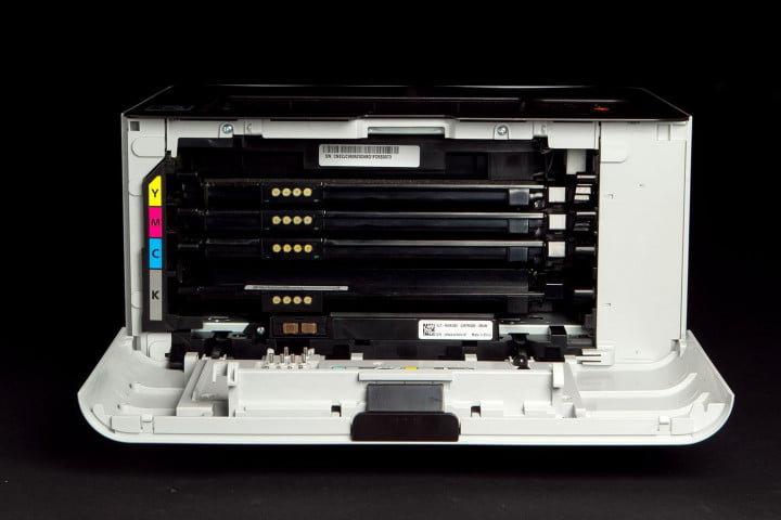 samsung printer xpress c  w review front panel open