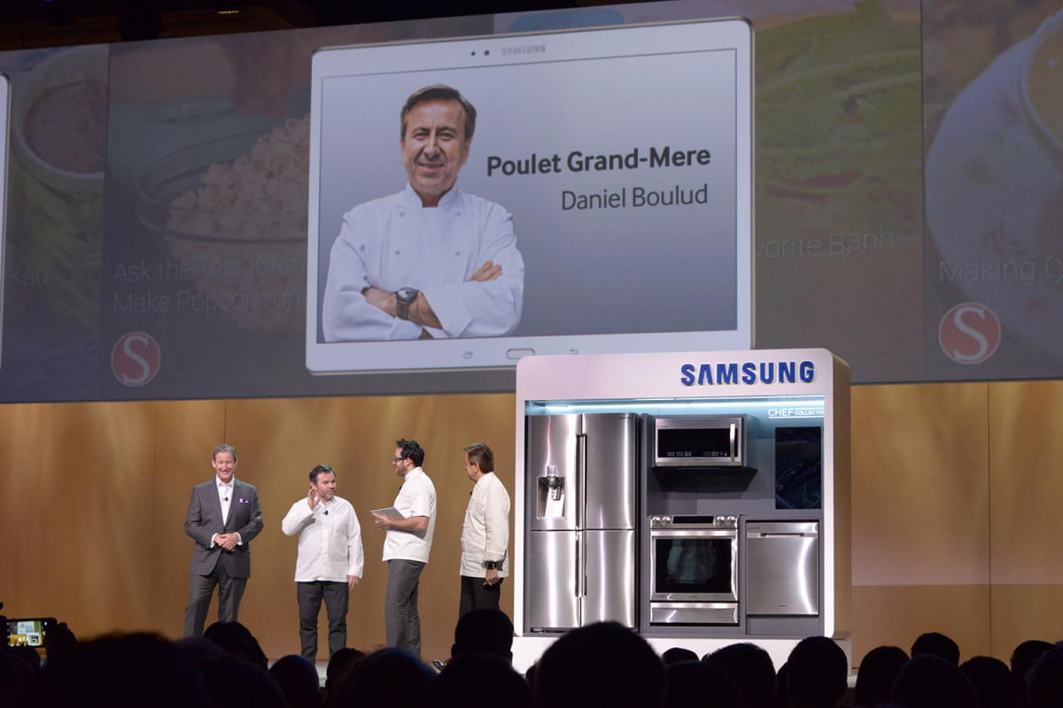 samsung cooks new chef collection tablet app cheif ces