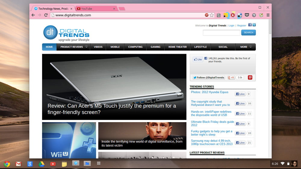 Samsung Chromebook series 3 review screenshot google chrome laptop