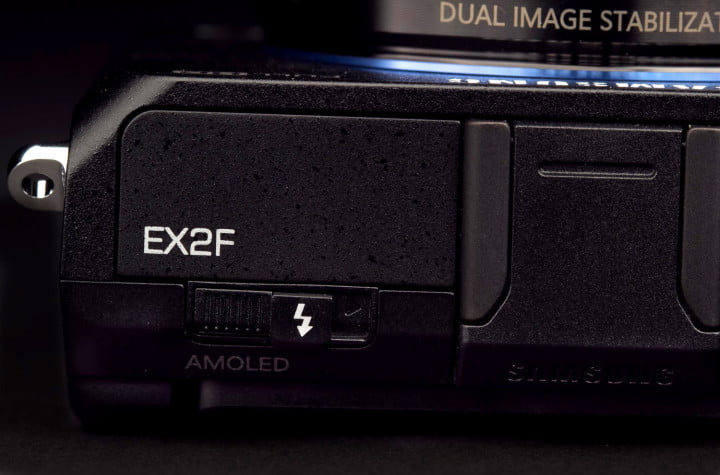 samsung ex f review flash button macro