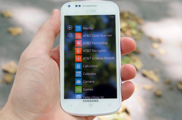 The Samsung Focus 2 comes with preinstalled apps, but doesn't have Nokia's great software.