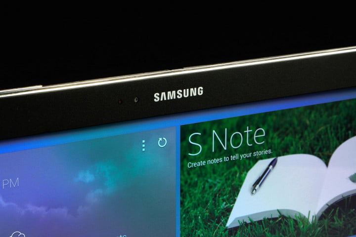 samsung galaxy note pro  review front camera angle